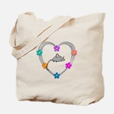 Mouse Heart Tote Bag
