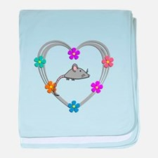 Mouse Heart baby blanket