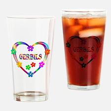 Gerbil Heart Drinking Glass