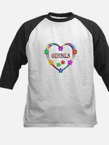 Gerbil Heart Kids Baseball Jersey