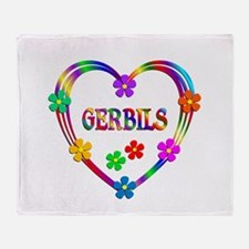 Gerbil Heart Throw Blanket