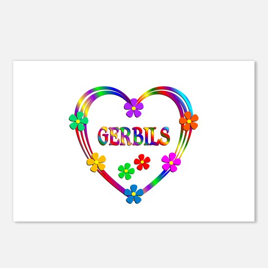 Gerbil Heart Postcards (Package of 8)