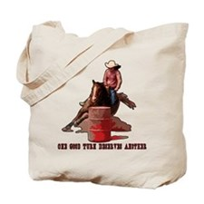 Barrel Racing, Good Turn. Tote Bag