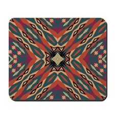 Aztec Pattern Earthy Warm tones Mousepad