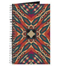 Aztec Pattern Earthy Warm tones Journal