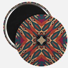 Aztec Pattern Earthy Warm tones Magnets