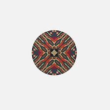 Aztec Pattern Earthy Warm tones Mini Button