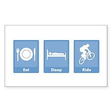 Eat Sleep Ride Rectangle Decal