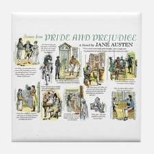 Scenes from Pride and Prejudice Tile Coaster