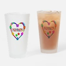 Ferret Heart Drinking Glass
