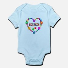 Ferret Heart Infant Bodysuit