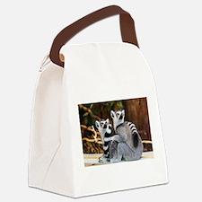 Lemurs Rock Canvas Lunch Bag