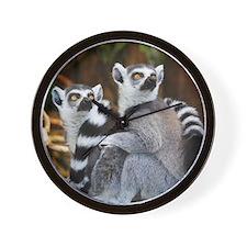 Lemurs Rock Wall Clock