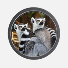 Lemurs Rock Wall Clock
