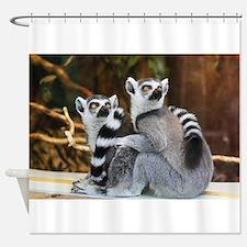 Lemurs Rock Shower Curtain