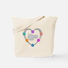 Hippo Heart Tote Bag