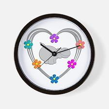 Hippo Heart Wall Clock