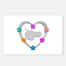 Hippo Heart Postcards (Package of 8)