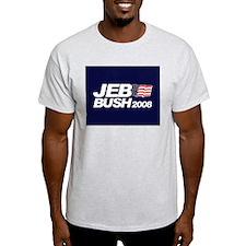 JEB BUSH PRESIDENT 2008 Ash Grey T-Shirt