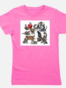 Cute Kittens Girl's Tee