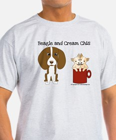 Beagle and Cream Chis T-Shirt
