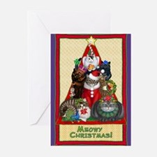 Cute Christmas cats Greeting Cards (Pk of 10)