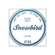 "Snowbirds Square Sticker 3"" x 3"""