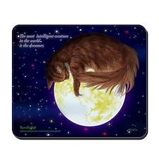 Serve with the unique dreamer cat Mousepad