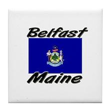 Belfast Maine Tile Coaster