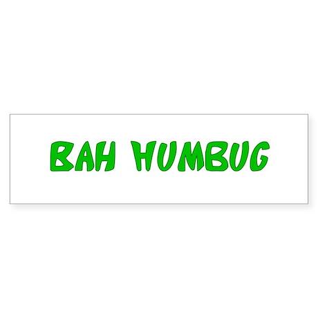Bah Humbug Bumper Sticker