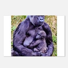 GORILLA AND BABY Postcards (Package of 8)