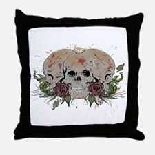 Skulls N Roses Throw Pillow