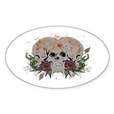 Skulls N Roses Oval Decal