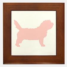 Pink Petit Basset Dog Framed Tile