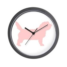 Pink Petit Basset Dog  Wall Clock