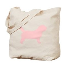 Pink Petit Basset Dog Tote Bag