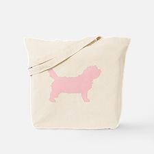 Pink Petit Basset Dog Tote Bag