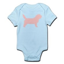 Pink Petit Basset Dog Infant Bodysuit