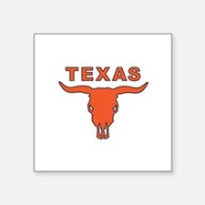 "Unique Longhorn Square Sticker 3"" x 3"""