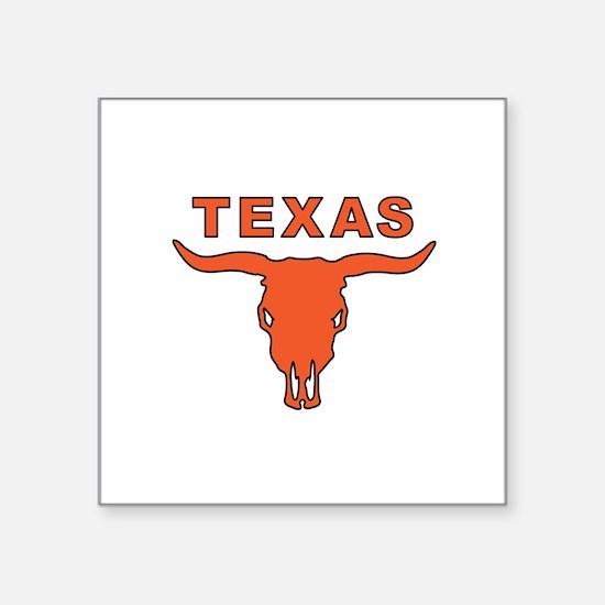 """Unique Texas cattle Square Sticker 3"""" x 3"""""""