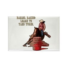 Barrel Racing, Take Turns. Rectangle Magnet