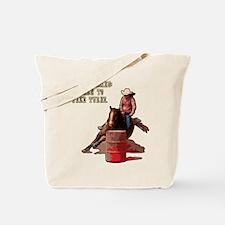 Barrel Racing, Take Turns. Tote Bag