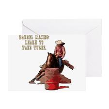 Barrel Racing, Take Turns. Greeting Card