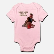 Barrel Racing, Take Turns. Infant Bodysuit