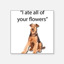 Rowdy Airedale Terrier Ate Your Flowers Sticker
