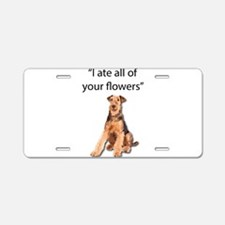 Rowdy Airedale Terrier Ate Aluminum License Plate