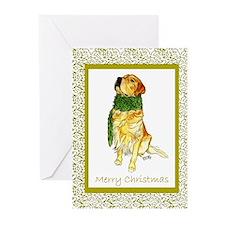 Funny Golden retriever christmas Greeting Cards (Pk of 20)