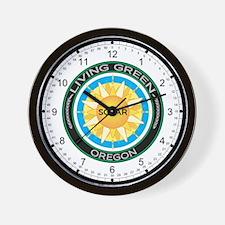 Living Green Oregon Solar Energy Wall Clock
