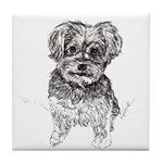 """Yorkshire Terrier"" by M. Nicole van Tile Coaster"