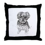 """Yorkshire Terrier"" by M. Nicole van Throw Pillow"
